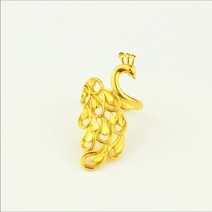 Accessories - 24k Gold plated Peacock Ring